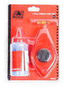3 Piece Chalk Line, Level & Refill Set Image